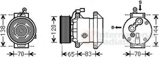 Компрессор, кондиционер VAN WEZEL 8100K095