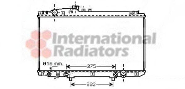 Радиатор, охлаждение двигателя VAN WEZEL 53002337