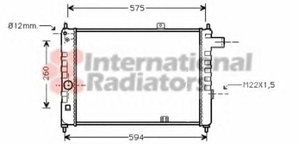 Радиатор охлаждения VAN WEZEL 37002055