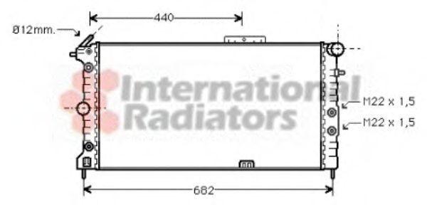 Радиатор охлаждения двигателя VAN WEZEL 37002173
