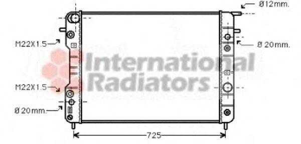 Радиатор охлаждения двигателя VAN WEZEL 37002193