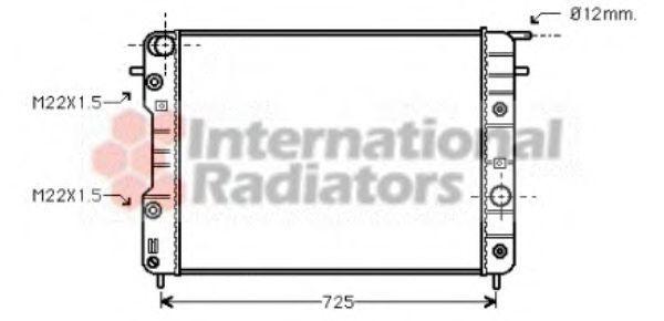 Радиатор охлаждения двигателя VAN WEZEL 37 00 2202