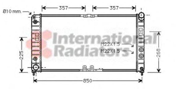 Радиатор, охлаждение двигателя VAN WEZEL 37002286