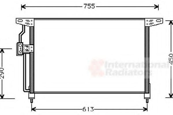 Радиатор кондиционера VAN WEZEL 37 00 5228