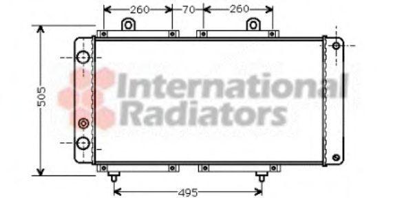 Радиатор охлаждения двигателя VAN WEZEL 40 00 2033