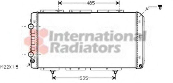 Радиатор охлаждения двигателя VAN WEZEL 40 00 2150