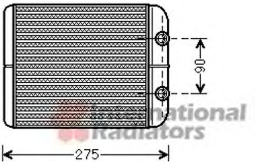 Теплообменник, отопление салона VAN WEZEL 58006301
