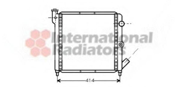 Радиатор охлаждения двигателя VAN WEZEL 43002063