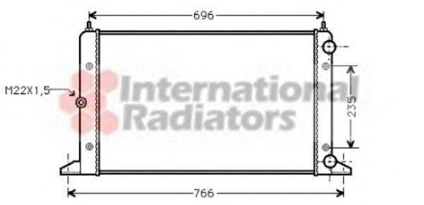Радиатор охлаждения двигателя VAN WEZEL 58002134