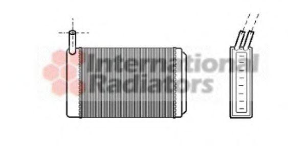 Радиатор отопителя салона VAN WEZEL 5800606(1)