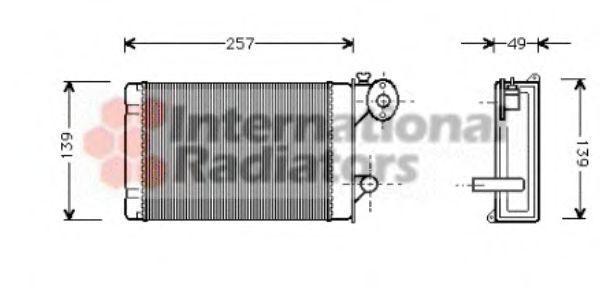 Радиатор отопителя салона VAN WEZEL 58 00 6062
