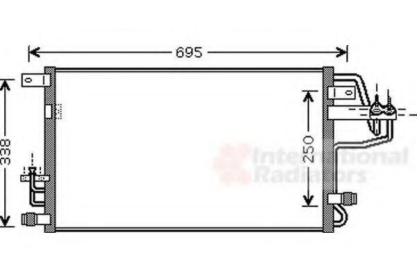 Радиатор кондиционера VAN WEZEL 82005156