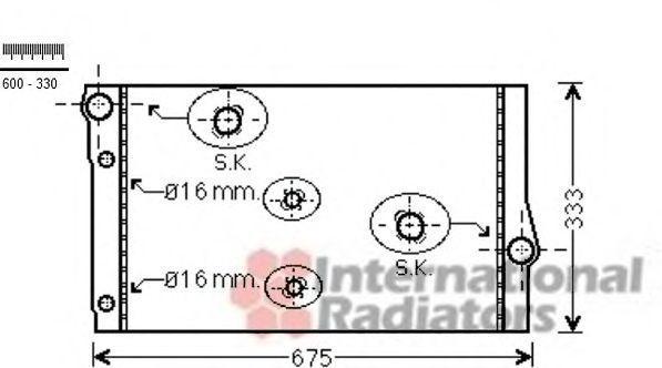 Радиатор, охлаждение двигателя VAN WEZEL 06002410
