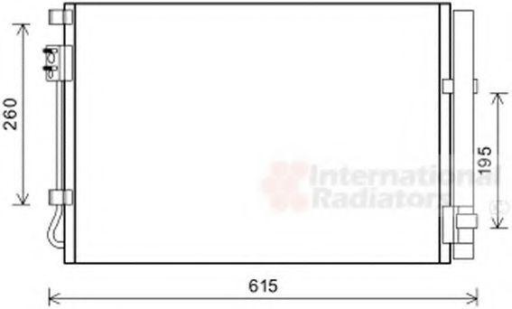 Радиатор кондиционера VAN WEZEL 82 00 5269