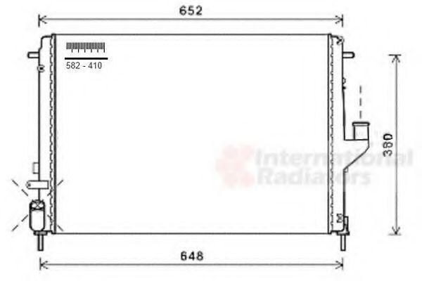 Радиатор охлаждения VAN WEZEL 43002478