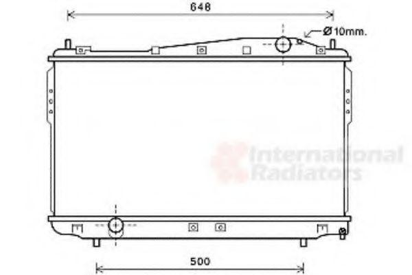Радиатор охлаждения VAN WEZEL 81002136