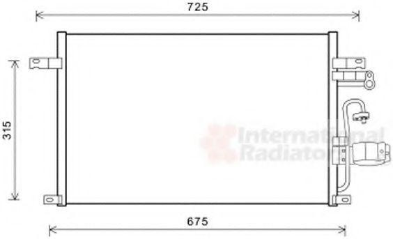 Конденсатор, кондиционер VAN WEZEL 81005137