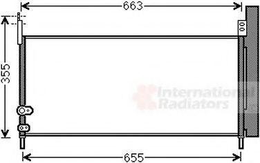 Конденсатор, кондиционер VAN WEZEL 53005576