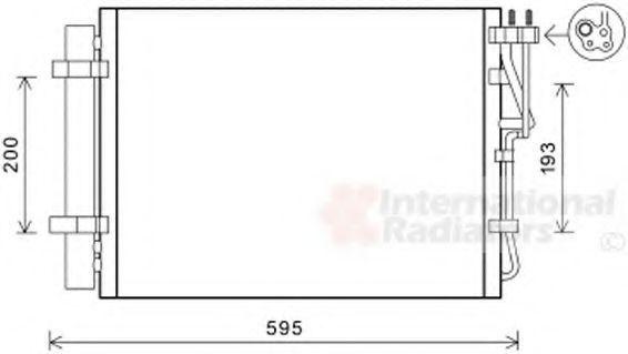Конденсатор, кондиционер VAN WEZEL 83005198