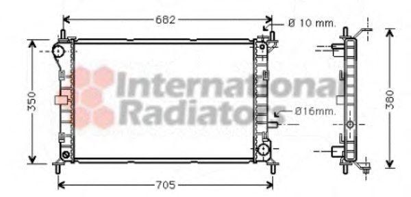 Радиатор охлаждения VAN WEZEL 18002264
