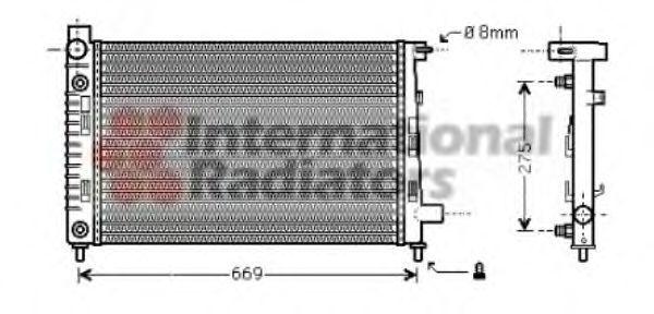 Радиатор, охлаждение двигателя VAN WEZEL 30002282