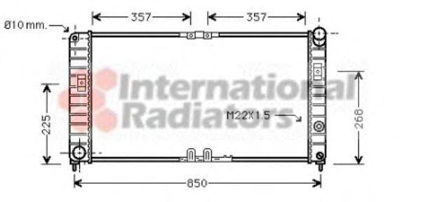 Радиатор, охлаждение двигателя VAN WEZEL 37002285