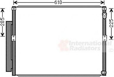 Конденсатор, кондиционер VAN WEZEL 53005634