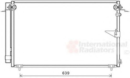 Конденсатор, кондиционер VAN WEZEL 53005654