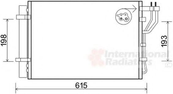 Конденсатор, кондиционер VAN WEZEL 83005206