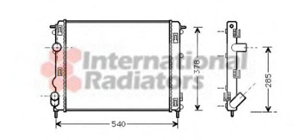 Радиатор охлаждения VAN WEZEL 43002270