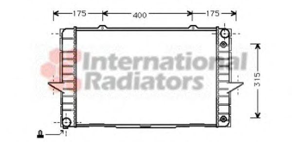 Радиатор охлаждения VAN WEZEL 59 00 2092