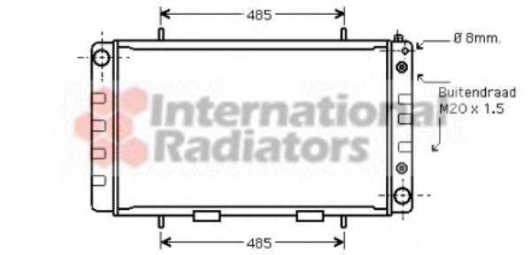 Радиатор, охлаждение двигателя VAN WEZEL 02002162