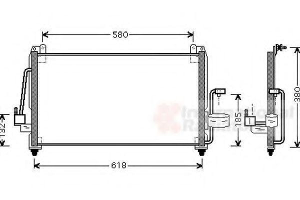 Радиатор кондиционера VAN WEZEL 81005040