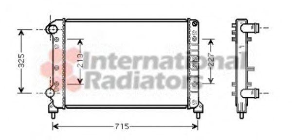 Радиатор охлаждения VAN WEZEL 17002261