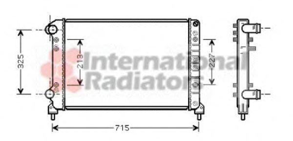 Радиатор охлаждения двигателя VAN WEZEL 17002262