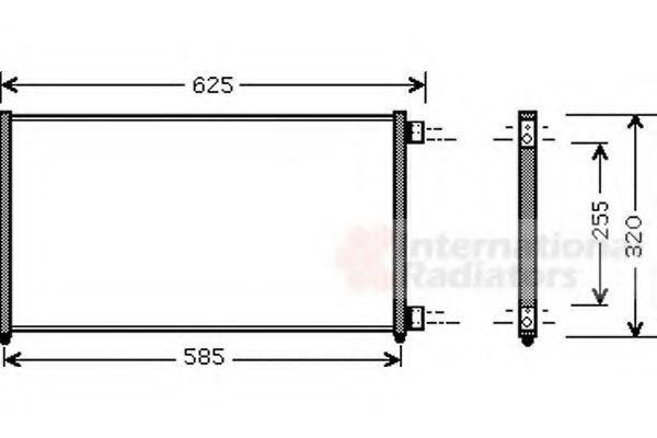 Радиатор кондиционера VAN WEZEL 17005256