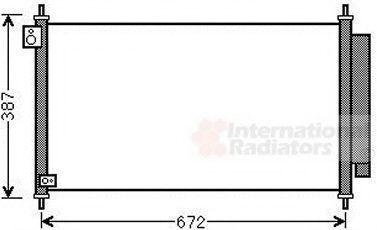 Конденсатор, кондиционер VAN WEZEL 25005276