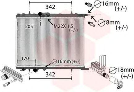 Радиатор охлаждения VAN WEZEL 40002300