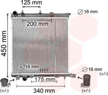 Радиатор охлаждения VAN WEZEL 40002368