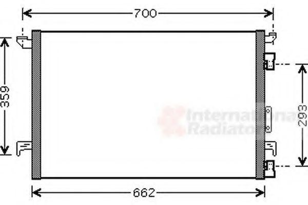 Радиатор кондиционера VAN WEZEL 37 00 5333