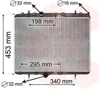 Радиатор охлаждения VAN WEZEL 40002255