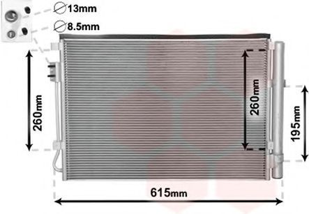Конденсатор, кондиционер VAN WEZEL 82005207