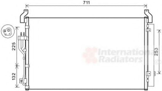 Конденсатор, кондиционер VAN WEZEL 82005360