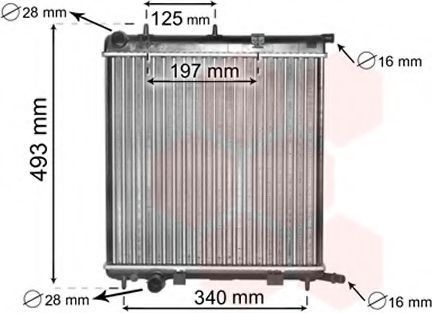 Радиатор охлаждения двигателя VAN WEZEL 09002188