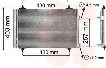 Радиатор кондиционера VAN WEZEL 09 00 5231
