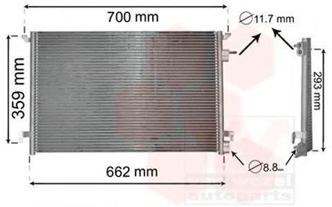 Радиатор кондиционера VAN WEZEL 37005397