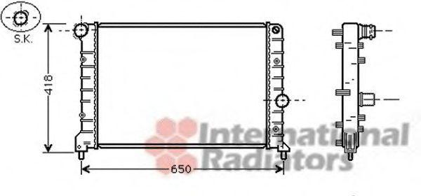 Радиатор, охлаждение двигателя VAN WEZEL 01002083