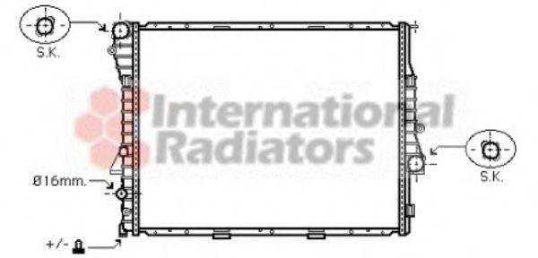 Радиатор охлаждения VAN WEZEL 06 00 2275