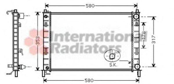 Радиатор охлаждения VAN WEZEL 18002324