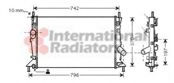 Радиатор охлаждения двигателя VAN WEZEL 18002370